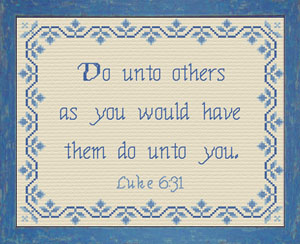 Do Unto Others | Crafting | Cross-Stitch | Other