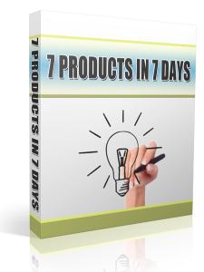 7 Products In 7 Days | eBooks | Business and Money