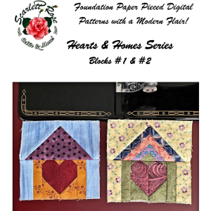 home blocks 1 & 2 - hearts & homes series paperpieced (fpp) block pattern