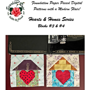 home blocks 3 & 4 - hearts & homes series paper pieced (fpp) block pattern