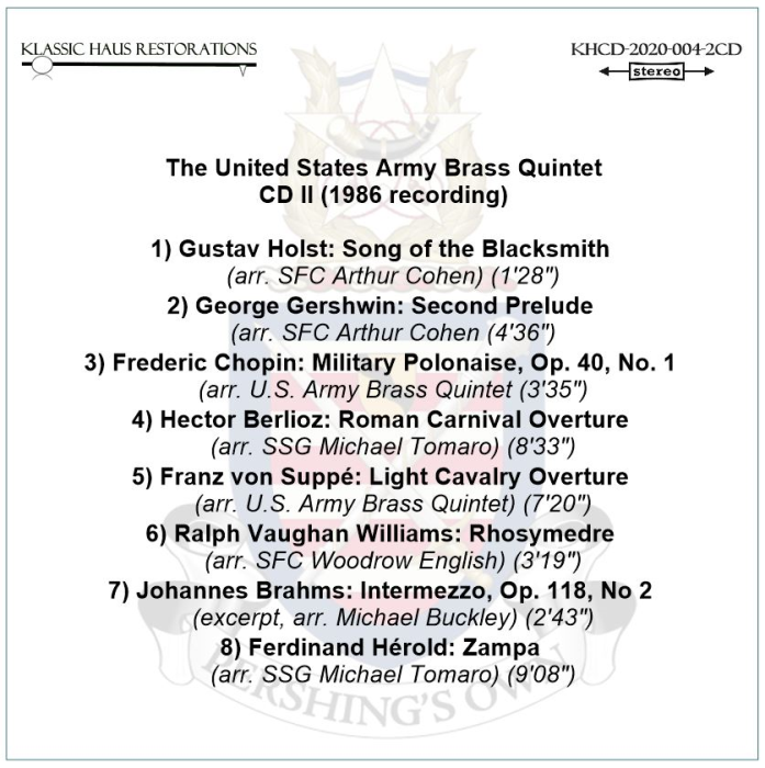 Second Additional product image for - United States Army Brass Quintet