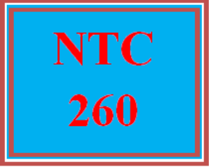 NTC 260 Wk 4 - Technical Resources | eBooks | Education