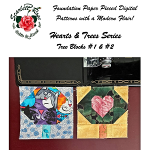 hearts & trees series - tree blocks 1 & 2 foundation paper pieced (fpp) modern digital pattern