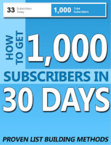 1,000 youtube subscribers in 30 days