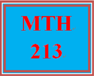 MTH 213 All Discussions | eBooks | Education