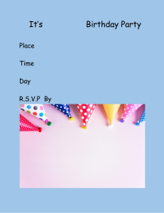 its name birthday party