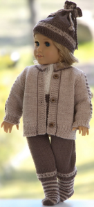 DollKnittingPattern 0209D DANIEL - Jacket, pants, short-sleeves sweater, cap and socks-(English) | Crafting | Knitting | Other