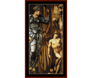 wheel of fortune - burne-jones cross stitch pattern by cross stitch collectibles