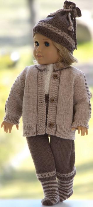 Second Additional product image for - DollKnittingPatterns Modell 0209D DANIEL - Jakke, nikkers, kortermet genser, lue og sokker-(Norsk)