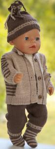 dollknittingpatterns modell 0209d daniel - jakke, nikkers, kortermet genser, lue og sokker-(norsk)