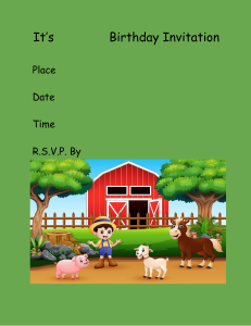 birthday party invite farm animals