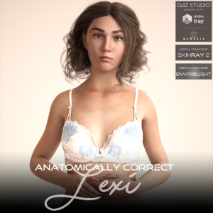 anatomically correct: lexi for genesis 3 and genesis 8 female