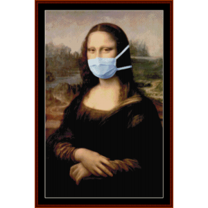 monalisa,pandemiceditioncrossstitchpatternbycrossstitchcollectibles