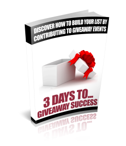 3 Days To Giveaway Success | eBooks | Self Help