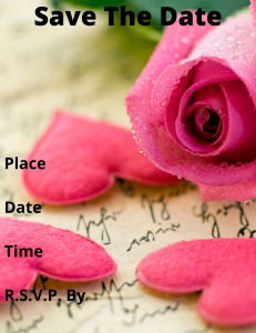 save the date (personalize this add names)