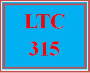 LTC 315 Week 4 Team Paper | eBooks | Education