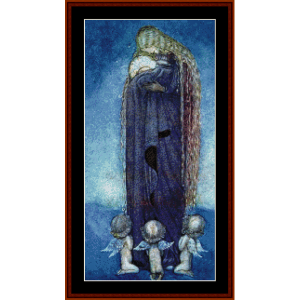 madonna - john bauer cross stitch pattern by cross stitch collectibles