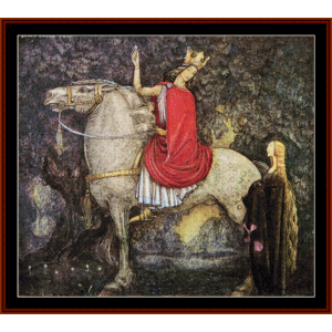 the ring - john bauer cross stitch pattern by cross stitch collectibles