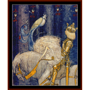 to fairyland - john bauer cross stitch pattern by cross stitch collectibles
