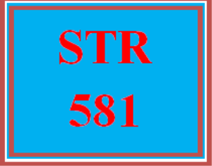 STR 581 All Discussions | eBooks | Education