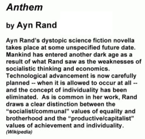 First Additional product image for - Anthem by Ayn Rand