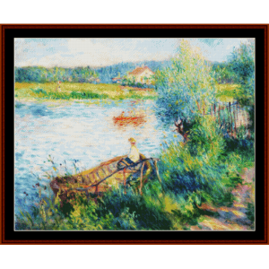 boating in bougival - renoir cross stitch pattern by cross stitch collectibles