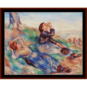 Grape Gatherers - Renoir cross stitch pattern by Cross Stitch Collectibles | Crafting | Cross-Stitch | Other