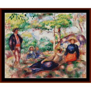 Resting in the Grass - Renoir cross stitch pattern by Cross Stitch Collectibles | Crafting | Cross-Stitch | Other
