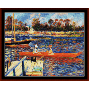 The Seine at Argenteuil - Renoir cross stitch pattern by Cross Stitch Collectibles | Crafting | Cross-Stitch | Other