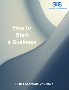sos essentials volume 1 how to start a business
