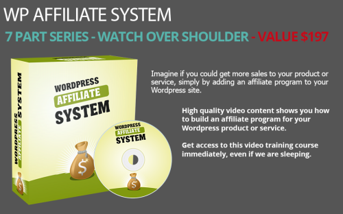First Additional product image for - Step By Step Video Course of WordPress Affiliate System