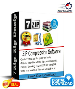 7zip - zip unzip rar windows file archive compression compatible winzip winrar