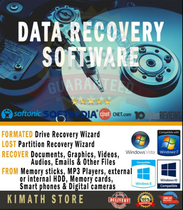 First Additional product image for - Data Recovery Software Recover Lost Memory Files From Internal And External Hdd