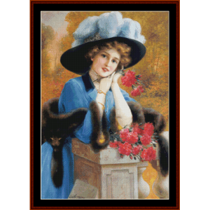 carnations are for love - emile vernon cross stitch pattern by cross stitch collectibles