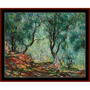 Olive Trees in Moreno Garden - Monet cross stitch pattern by Cross Stitch Collectibles | Crafting | Cross-Stitch | Other