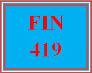 FIN 419T Wk 1 - Apply: Assessment | eBooks | Education