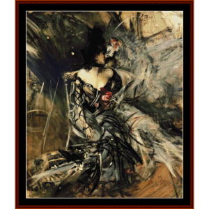 Spanish Dancer - Giovanni Boldini cross stitch pattern by Cross Stitch Collectibles | Crafting | Cross-Stitch | Other