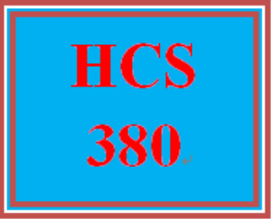 HCS 380 Wk 1 Individual: Reference Chart | eBooks | Education
