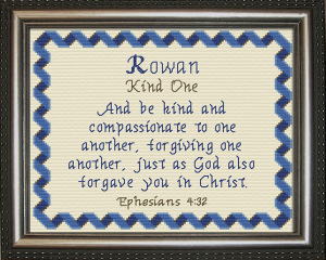 Name Blessings - Rowan   Crafting   Cross-Stitch   Other