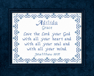 Name Blessings - Adilida 2 | Crafting | Cross-Stitch | Other