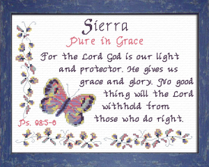 Name Blessings - Sierra   Crafting   Cross-Stitch   Other