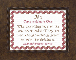 Name Blessings - Ida | Crafting | Cross-Stitch | Other