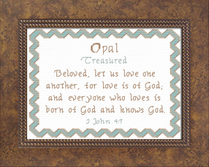 Name Blessings - Opal | Crafting | Cross-Stitch | Other