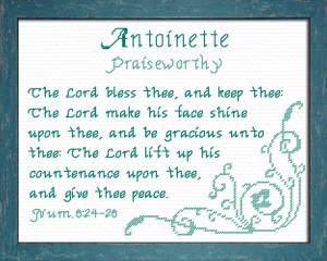 Name Blessings - Antoinette | Crafting | Cross-Stitch | Other