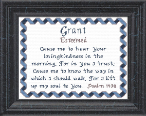 Name Blessings - Grant | Crafting | Cross-Stitch | Other