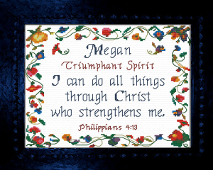 Name Blessings - Megan 2 | Crafting | Cross-Stitch | Other