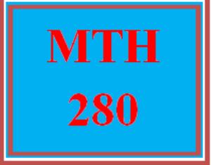 MTH 280 Wk 4 – Midterm Exam | eBooks | Education