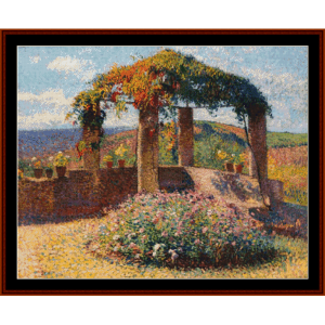 The Arbor, Sunny Day - Henri Martin cross stitch pattern by Cross Stitch Collectibles | Crafting | Cross-Stitch | Other