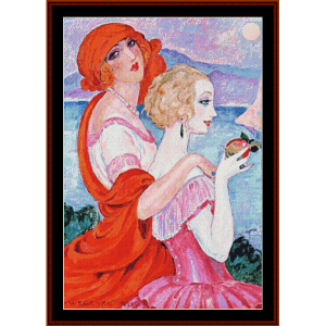 On the Road to Ana Capri - Gerda Wegener cross stitch pattern by Cross Stitch Collectibles | Crafting | Cross-Stitch | Other