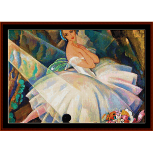 Ballerina Lilla Paulsen - Gerda Wegener cross stitch pattern by Cross Stitch Collectibles | Crafting | Cross-Stitch | Other